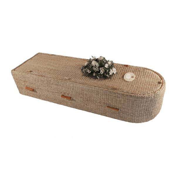 Half Round Water Hyacinth Coffin