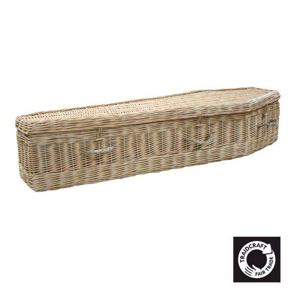 Natural Willow Traditional Coffin