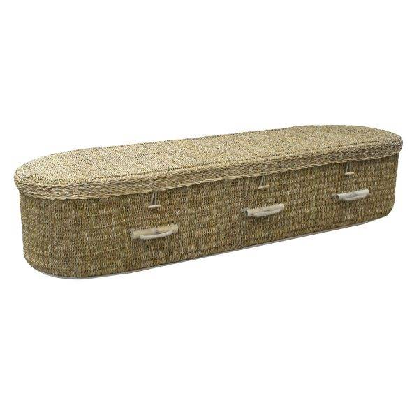 Seagrass Oval Coffin